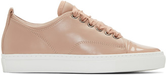 Lanvin Pink Leather Sneakers $595 thestylecure.com