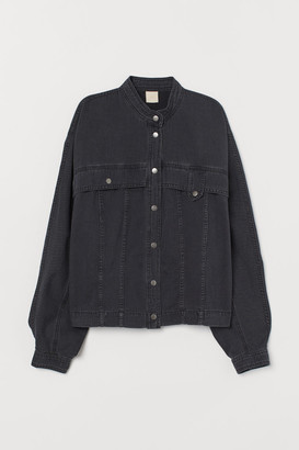 H&M Denim Shirt Jacket - Black