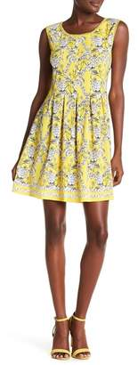 Max Studio Pleated Floral Dress
