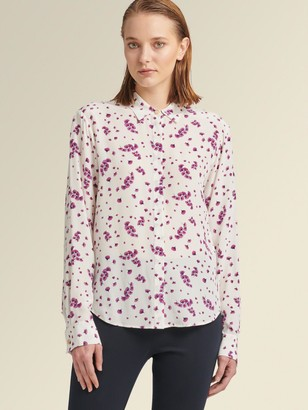 DKNY Button-Up Shirt With Floral Print