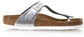 Birkenstock Silver Thongs Gizeh