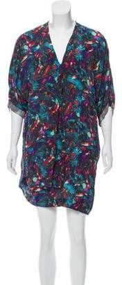 Richard Chai Silk Printed Dress