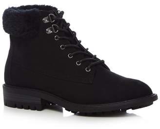 Mantaray Black Suedette 'Megan' Lace Up Boots