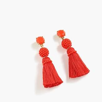 J.Crew Bead and tassel earrings