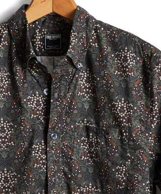 Todd Snyder Floral Thomas Mason Button Down Shirt in Olive