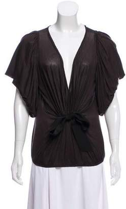 Lanvin Plunging V-Neck Top