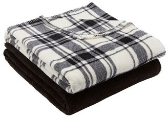 Mainstays Fleece Plush Throw Blanket, Set of 2, Available In Multiple Prints