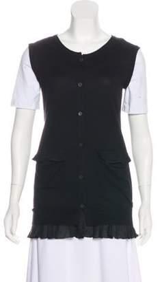 Miu Miu Cashmere Button-Up Vest Black Cashmere Button-Up Vest