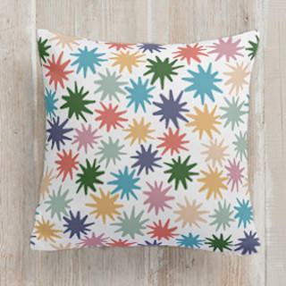 Twinkle Happy Stars Square Pillow