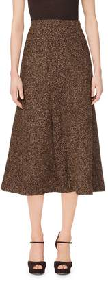 Michael Kors Wool-Boucle Tulip Skirt