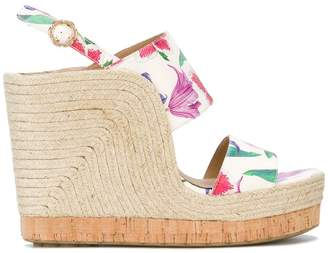 Salvatore Ferragamo high wedge sandals