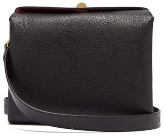 Balenciaga Flap S Grained Leather Shoulder Bag - Womens - Black