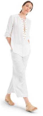Max Studio linen crepe gauze tunic