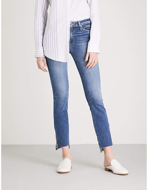 Hoxton raw-hem skinny high-rise jeans