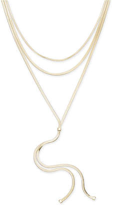 """Thalia Sodi Gold-Tone Layered Lariat Necklace, 16"""" + 3"""" extender, Created for Macy's"""