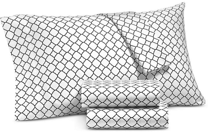 Damask Designs Printed Geo Standard Pillowcase Pair, 500 Thread Count, Created for Macy's Bedding