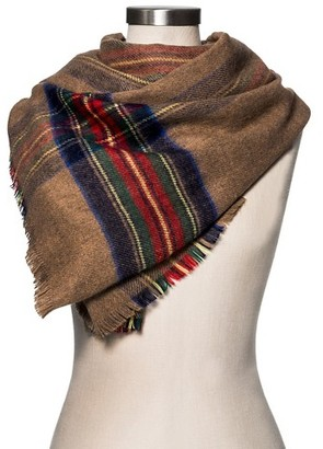 Merona Women's Blanket Scarf Camel and Red Plaid - Merona $19.99 thestylecure.com