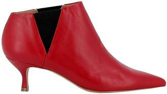 Golden Goose Red Leather Ankle Boots