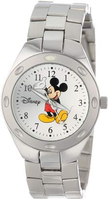 EWatchFactory Men's 59007-13 Disney Mickey Mouse Stainless Steel Sunray Dial Watch