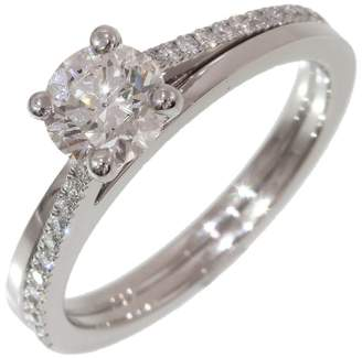 De Beers 950 Platinum 0.61ct Diamond Ring Size 3.75