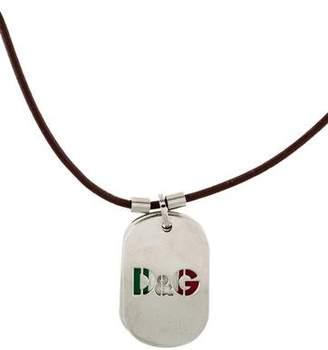 Dolce & Gabbana Italian Dog Tags Pendant Necklace