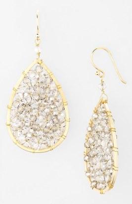 Women's Panacea Smoky Crystal Teardrop Earrings $28 thestylecure.com