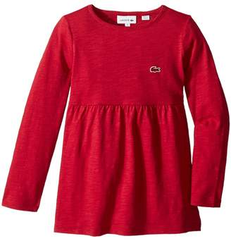 Lacoste Kids Long Sleeve Jersey Tee Shirtdress Girl's Dress