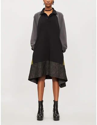 Koche Contrast-panel cotton-jersey polo dress