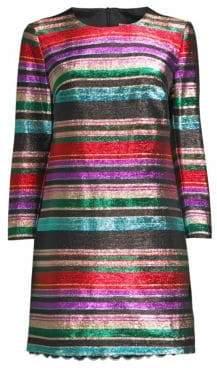 Trina Turk Striped Metallic Dress
