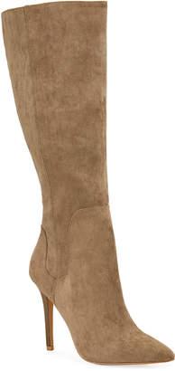 Neiman Marcus Package High-Heel Suede Boots
