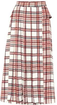 Rokh Checked midi skirt