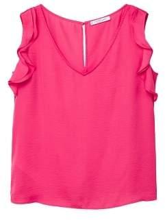 Violeta BY MANGO Flowy ruffle blouse