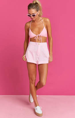 Show Me Your Mumu Chloe Cuff Shorts ~ Skipper Stripe