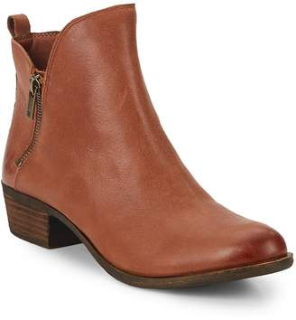 Lucky Brand Women's Basonta Leather Ankle Boots