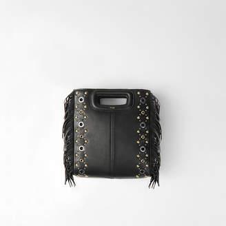 Maje Leather M bag with eyelets