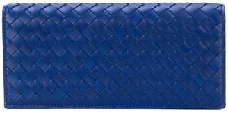 Bottega Veneta cobalt blue Intrecciato continental wallet