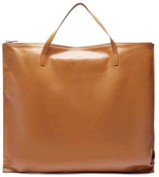 Jil Sander Oversized Smooth Leather Tote - Womens - Tan