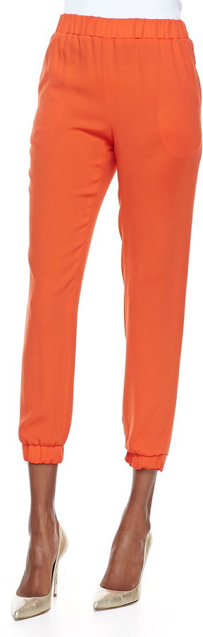 Tibi Bibe Crepe Jogging Pants