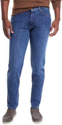 Ermenegildo Zegna Men's Stretch-Denim Straight-Leg Jeans