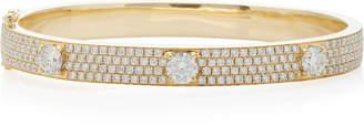 Anita Ko Pave Diamond Bracelet With Three Round Diamonds