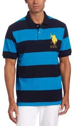 U.S. Polo Assn. Mens Stripe Pique Polo w/ Big Pony