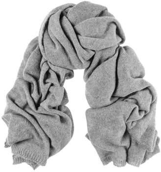 Black Oversized Grey Cashmere Knit Scarf