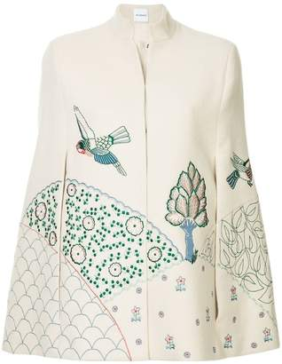 Vilshenko nature embroidered cape