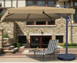 Santorini Blue Wave Ii 9.5' X 11' Rectangular Cantilever Umbrella