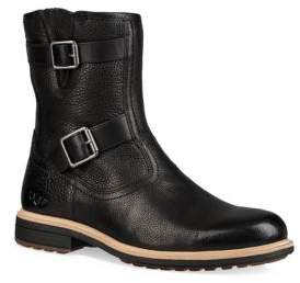 UGG Motorcycle Leather & Shearling-Lined Boots