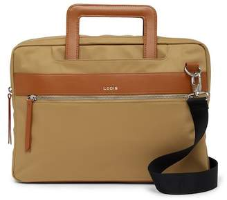 Lodis Kate Leather Trimmed Nylon RFID Laptop Bag