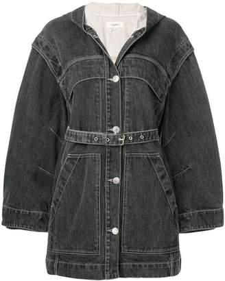 Etoile Isabel Marant faded hooded denim coat