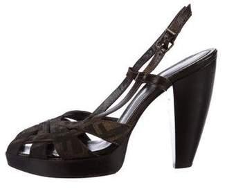 Fendi Zucca Platform Sandals