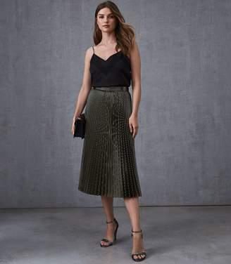 Reiss Evie Chevron Pleated Skirt