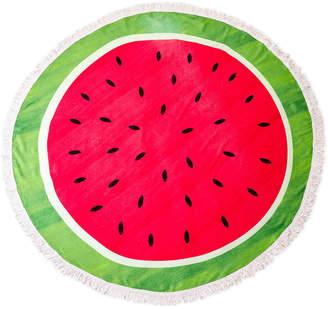 Dei Watermelon Round Fringe Beach Towel